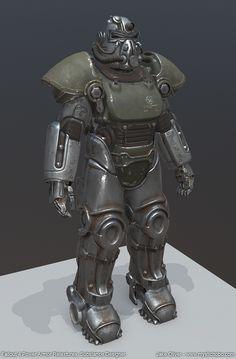 Fallout 4 Power Armor Retextures (Substance Designer), Jake Oliver on ArtStation at https://www.artstation.com/artwork/oxodL