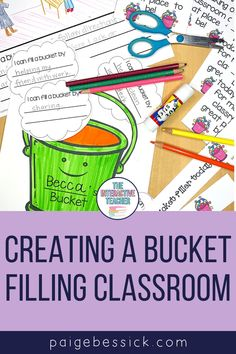 Creating a bucket filling classroom has everything you need to teach this unique concept. The blog post explains exactly how a first grade teacher teaches her students how to be bucket fillers. From a read aloud for Have You Filled a Bucket Today? to sorts, activities & certificates, this blog post has everything you need to be a bucket filling classroom. A bucket filler craft and bulletin board idea are also included. Teaching this concept with transform your classroom. Creative Teaching, Teaching Resources, Classroom Resources, Teaching Character, Character Education, Bucket Filling Classroom, Bucket Filler Activities, Interactive Read Aloud, Classroom Management