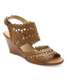 Look what I found on #zulily! Tan Sunday Wedge Sandal #zulilyfinds