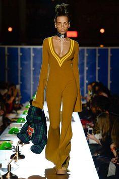 Fenty x Puma Autumn/Winter 2017 Ready to wear Mustard Knit Jumpsuit