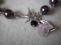 aubergine . bracelet . by AuntVestas on Etsy, $22.00