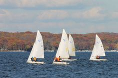 Lake Geneva, Wisconsin on a beautiful fall day in October.