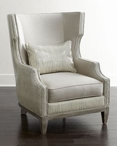Jazzy Wing Chair by Massoud at Horchow.