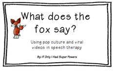 Using pop culture in speech therapy by If Only I Had Super Powers