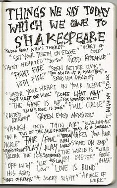 Shakespeare not only wrote great stories that are performed 400 years later, but he had a flair for inventing phrases that remain popular and in common usage. Description from perpetualpreparedness.blogspot.ca. I searched for this on bing.com/images
