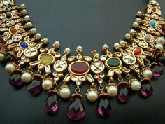 8 Different Kinds of Traditional Wedding Jewellery. Bridal Necklace, Bridal Jewelry, Gold Jewelry, Ruby Necklace, Diamond Jewellery, Necklace Set, Gemstone Jewelry, India Jewelry, Temple Jewellery