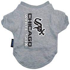 MLB Chicago White Sox Dog Tee Shirt Grey Free Shipping
