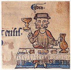 A Feast For The Eyes  1. Janus feasting; the month of January.