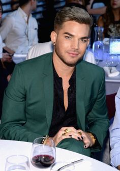 Adam Lambert in the audience at the iHeartRadio Music Awards (2040×2910)