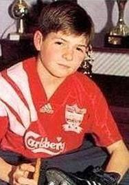 A young Steven Gerrard