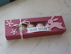 Hallo Ihr Lieben,   nach der tollen Anleitung von Jasmin , habe ich folgende Boxen für Schoko-Ostereier gewerkelt.   Da es gerade so gut lie...