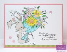Ling's Design Studio—Crafter's Companion supplies: Bebunni Bunches of Love