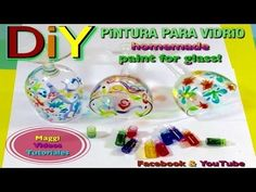 Como Hacer Pintura para Vidrio - YouTube Pasta Crafts, Polymer Clay Miniatures, Pasta Flexible, Easy Diy Crafts, Drawing, Stencils, Mandala, Painting, Homemade