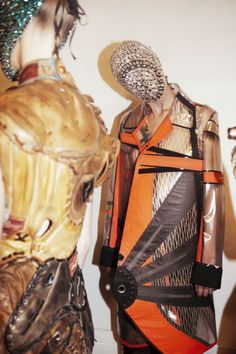 Backstage at Maison Martin Margiela Haute Couture A/W 2012 // photographed by Billy Nava