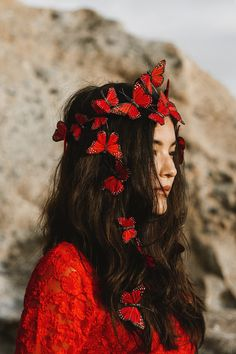 butterfly aesthetic Passions of the Heart Fairy Butterfly Crown Creative Photography, Portrait Photography, Fairy Crown, Butterfly Hair, Butterfly Costume, Blue Butterfly, Lace Ribbon, Red Aesthetic, Just In Case