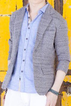 【マネキン買い】【大人のちょいカジがモテる!人気のジャケットスタイルに白パンツを合わせて格上の爽やかイケメンコーデに♪】テーラードジャケット×七分袖シャツ×クロップドパンツ(3点セット) | メンズファッション+