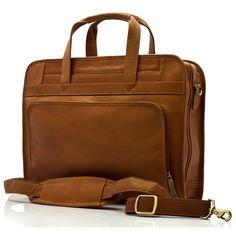 e83a80b07bbd Muiska - Lisbon - Leather Top-Zip 17-inch Laptop Briefcase
