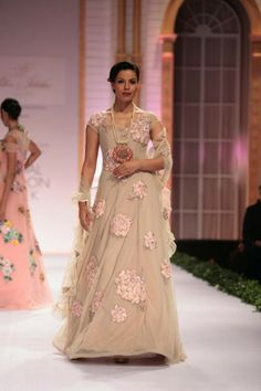 Peach, georgette anarkali gown with price $148.46.Andaaz fashion ...