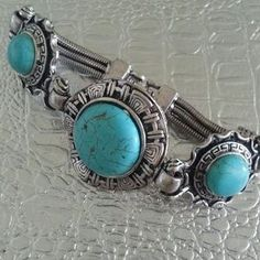 I just discovered this while shopping on Poshmark: TURQUOISE BRACELET NWOT. Check it out!  Size: OS