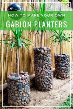 These gabion planters would be a beautiful addition to your garden!