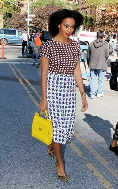 Solange Knowles Rocking Blow-out Natural Hairstyle