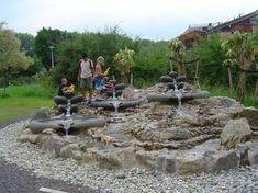 man made creeks for play yard.