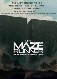 Wyck Godfrey's opinion on Maze Runner>>>> how can someone even compare the Maze Runner to Twilight? What is wrong with people?!?