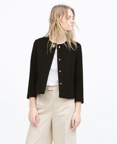 SHORT CREPE JACKET-Blazers-Jacket-WOMAN | ZARA United States