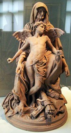 Easy Clay Sculptures : Gustave Dore La Parque et lAmour 1879