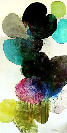 Om Stella, 2014, Ink, oil, and charcoal on canvas, 72 x 36 inches