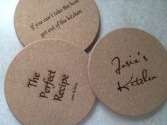 Personalized Cork Trivet, Bridal Shower Gift, Wedding Gift, Hostess Gift, The Perfect Recipe, Kitchen Décor #gift #bridalshower #Christmas #cork #withluvdesign #kitchen #cooking #baking