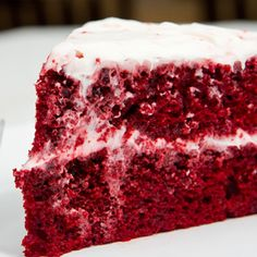 A chocolatey and delicious red velvet cake recipe.. Red Velvet Cake Recipe from Grandmothers Kitchen.