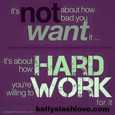 What are you working for today?!