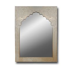 Bone Inlay Mirror Frame. Intricate inlay work through out and finished in a clear coat. Unique !