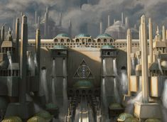 the art of m:tg, Ravnica's Guildgates | Azorius (by Drew Baker)