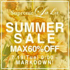 Supreme.La.La. SUMMER SALE!