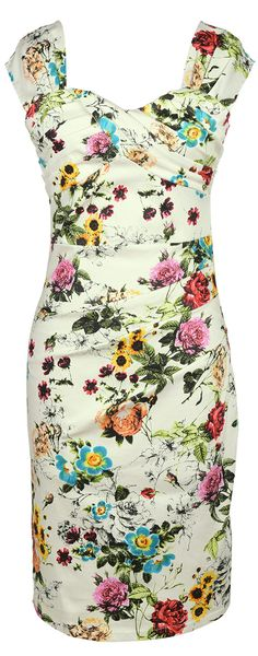 Slim fitting to pleat design and adorned mid-thigh hem, this beautiful dress style is so classic with a chic floral printing and bright color. It's the perfect combination of comfy, flattering and adorable!