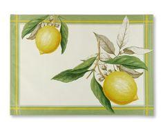 Botanical Citrus Place Mats, Set of 4, Williams Sonoma