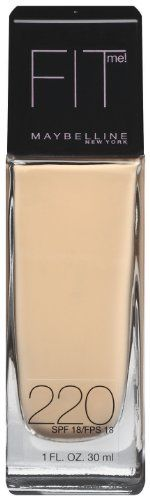 26% Off was $7.98, now is $5.94! Maybelline New York Fit Me! Foundation, 220 Natural Beige, SPF 18, 1 Fluid Ounce + Free Shipping