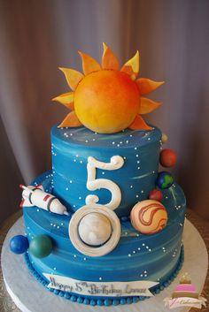 (492) Solar System Theme Cake