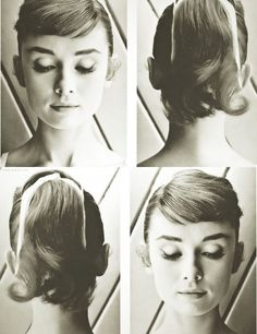 audrey rocking pretty short bangs. love them [on her].
