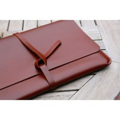 "grams28 - Handmade 15"" MacBook Pro Retina Leather Case Leather Portfolio Leather Sleeve (italian leather) ($165) found on Polyvore"