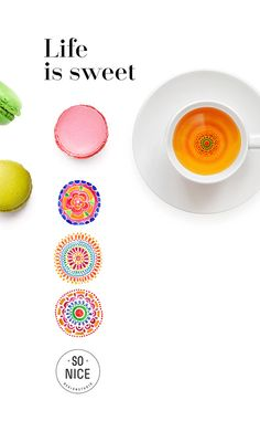 """""""Life is sweet"""" macarons on Behance"""
