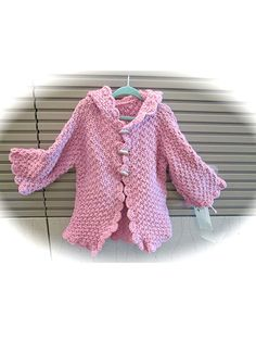c5b4c1fa434d Knitting - Child s Hooded Jacket -  REK0851 - not free but absolutely  gorgeous Baby Clothes