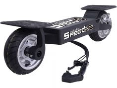 Big Toys USA MT-SG_Black MotoTec Electric Speed Go 36v Black (Lithium). The MotoTec 36v Electric Speed Go is the ultimate powered skateboard ride! Similar to a skateboard, but with only 2 wheels, cruise around in a unique way by balancing and carving like no other product on the market. Comes standard with a rear disc brake and large 9 inch pneumatic street tires. Powered by a 500 watt motor and 36 volt Lithium battery pack.  SAFETY FIRST - ALWAYS WEAR YOUR HELMET AND ALL SAFETY EQUIPMENT…