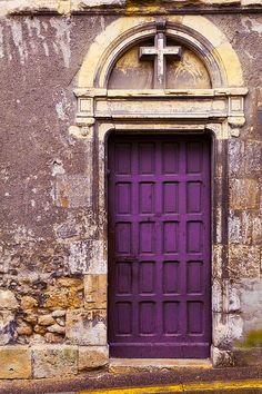 Orleans, Loiret, France door and I too have a purple front door :)