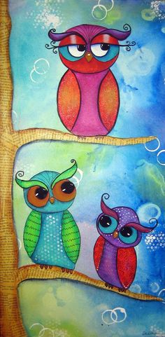 lettre h Tree owls.paint this for the girls Wal Art, Owl Crafts, Cute Owl, Malm, Whimsical Art, Bird Art, Art Lessons, Painting & Drawing, Art For Kids