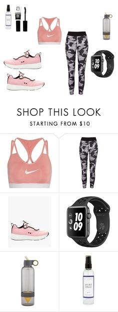 """""""sporty generation 2"""" by baylissreb ❤ liked on Polyvore featuring NIKE, River Island, Prada, The Laundress and eylure"""