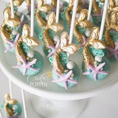 Mermaid tail cake pops