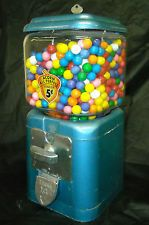Vintage 5 cent Acorn Candy/Gumball Machine. Has key and works. In Good condition